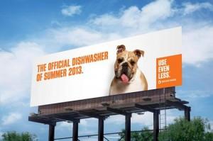 Denver Water Dishwasher Billboard