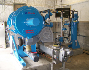 rotary press dewatering
