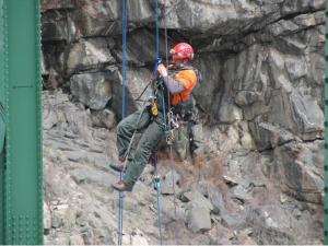 Rope Access Engineers Inspect Bridges
