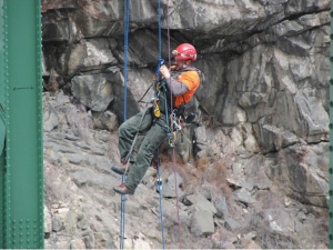 Rope Access Engineers Inspect Bridges
