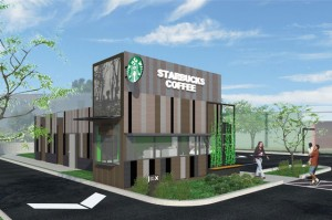 shipping container starbucks