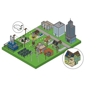 smart grid illustration