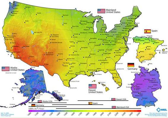U.S. Solar Map